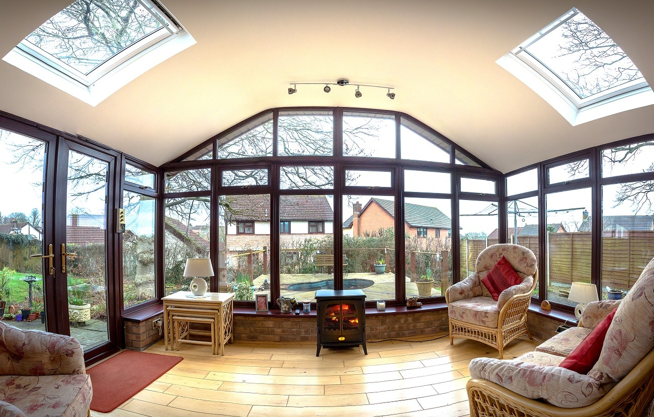 Worm solid conservatory roof