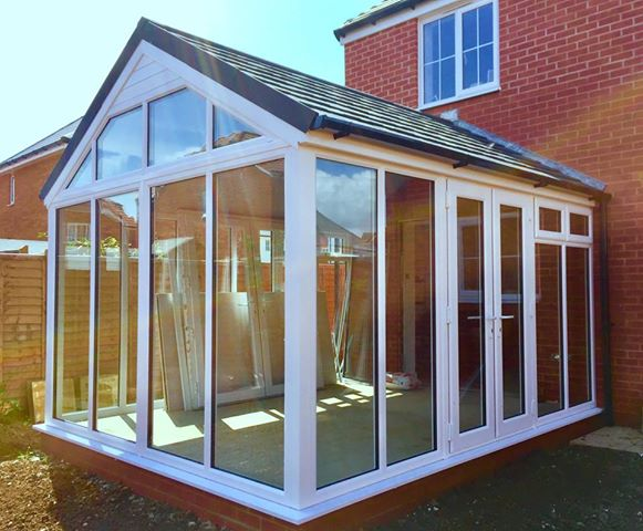 conservatory with solid roof