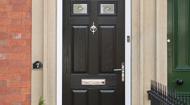 Black-composite-door