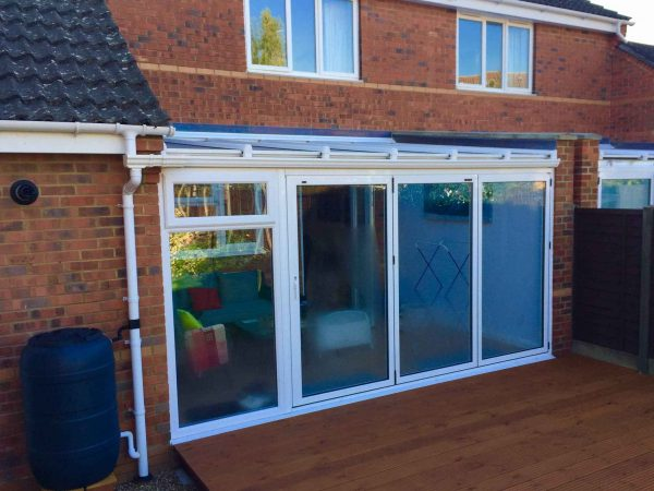 Bifold Doors with sidelight